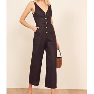 [ new ] Reformation Vera Button Front Jumpsuit